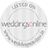 Listed on Weddings Online